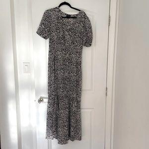 Who what wear, black and white polka dot dress, M